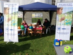 Weltkindertag in Celle - unser Stand